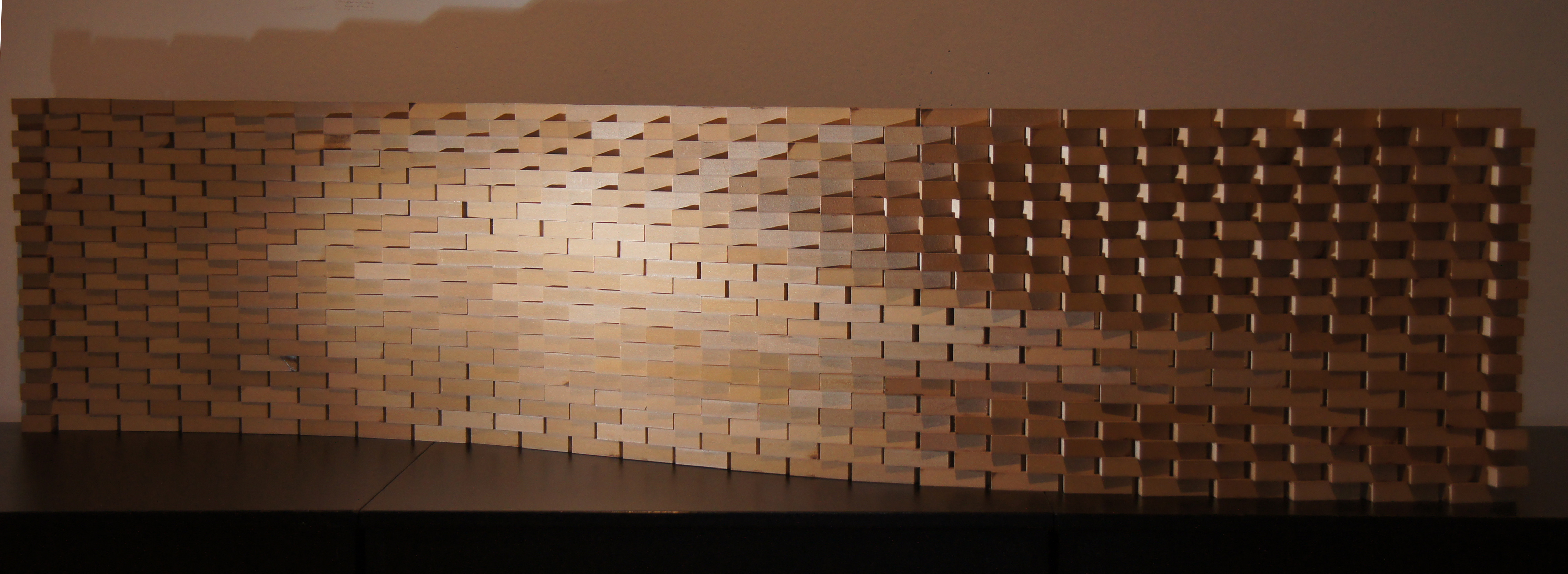 Digitally fabricated brick wall DIGITAL DESIGN CENTER