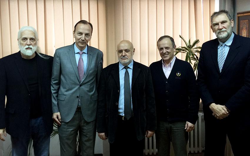Prof Šiđanin, dr Redžek, prof Doroslovački, dr Jonjev, prof Šešlija